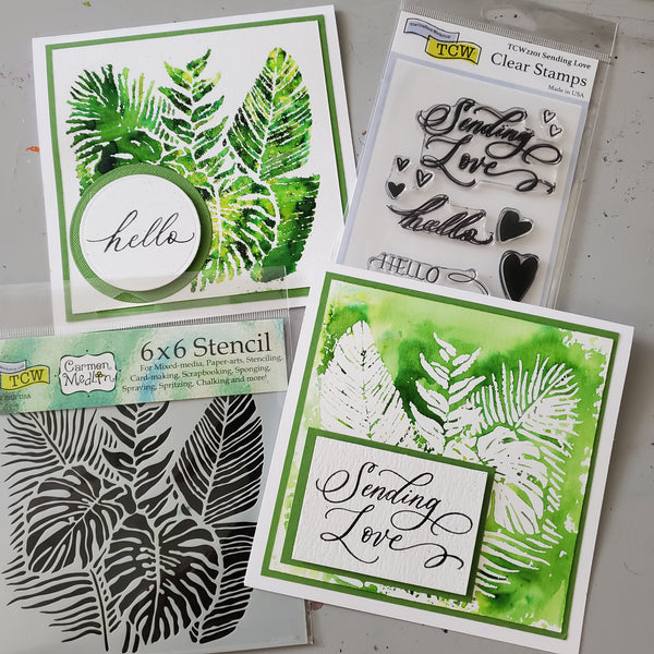 """Tropical Fronds"" Card Craft-a-Long Kit with Ken Oliver and One of a Kind May 22, 2021"