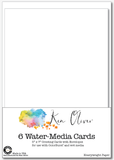 Watercolor Greeting Cards with Envelopes 5x7