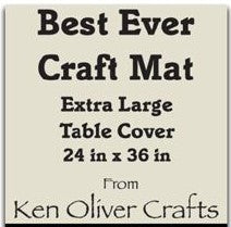 "Load image into Gallery viewer, The Best Ever Craft Mat - Extra LG Table Cover 24"" x 36"""