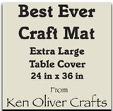 "The Best Ever Craft Mat - Extra LG Table Cover 24"" x 36"""