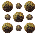 Vintage Ornate Button Embellishments 9 pcs.