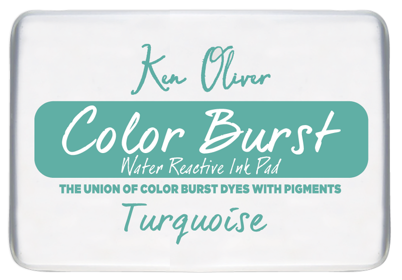 Color Burst Ink Pad-  Turquoise