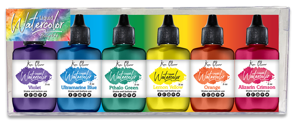 Ken Oliver Liquid Watercolor Brights 6 pack