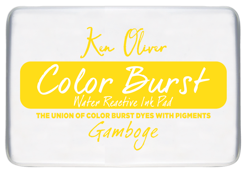 Color Burst Ink Pad- Gamboge