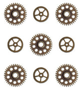Vintage Gears Charm Embellishments