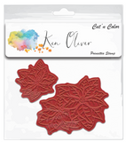Poinsettia Rubber Stamp and Die Bundle