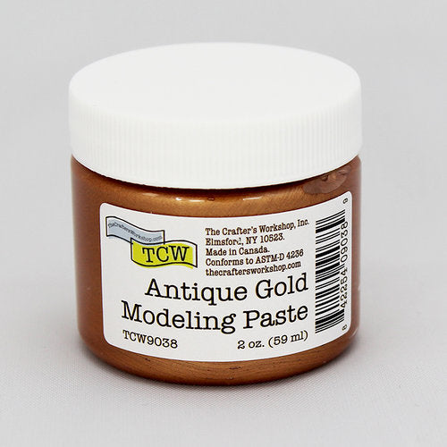 The Crafter's Workshop Antique Gold Modeling Paste 2 oz.
