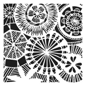 "The Crafter's Workshop ""Floral Spectacle"" Stencil 6x6"