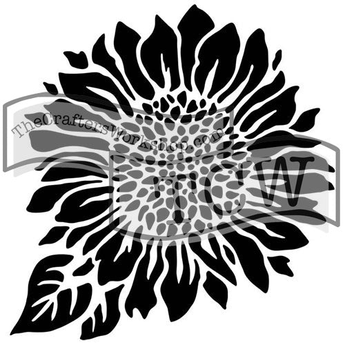 The Crafter's Workshop Stencil Joyful Sunflower