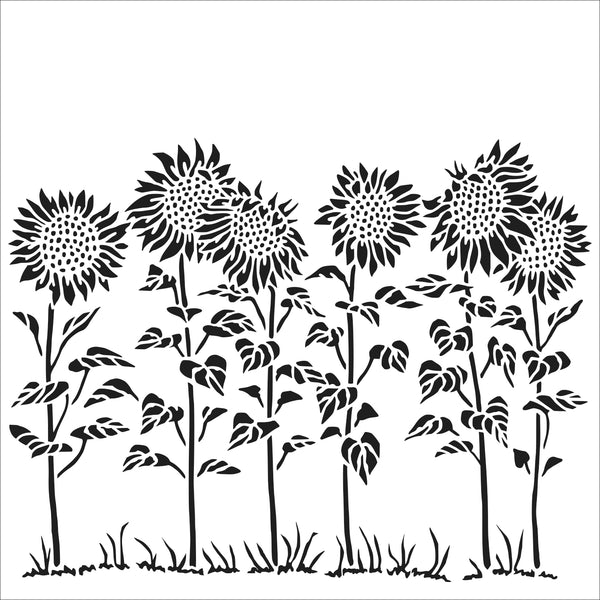 The Crafter's Workshop Stencil Sunflower Meadow