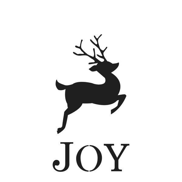 The Crafter's Workshop Stencil JOY Reindeer