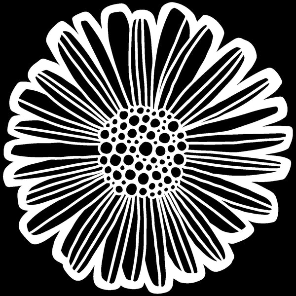 Felicia Daisy Stencil from The Crafter's Workshop