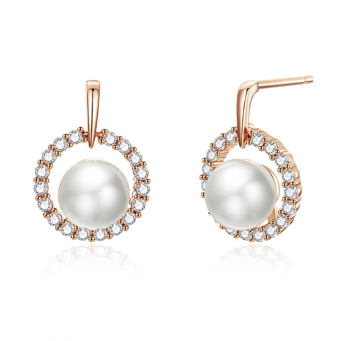 Oliviayip Hanging Pearl Women S Rose Gold Earring