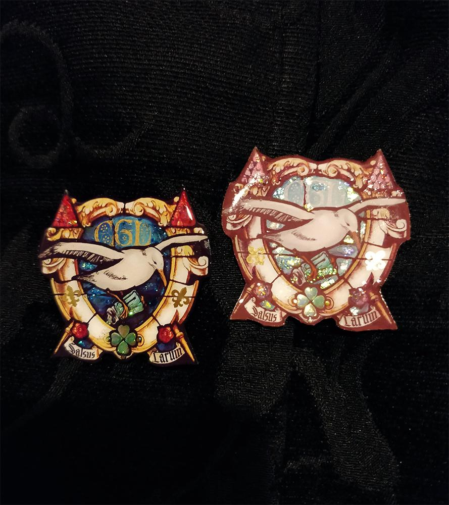 Salty Seagull /cgl/ Brooch Pins