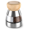 Eleganza Duet Duo Premium Double Mill for Salt & Pepper Rigid Stainless Steel with Dual Ceramic Grinders, 3.1 x 2.6 x 4.4