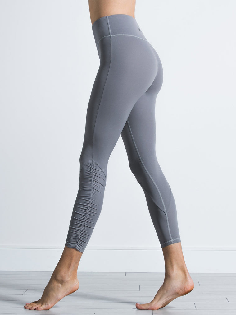 RUCHED NUDE PANTS, LUNAR GREY