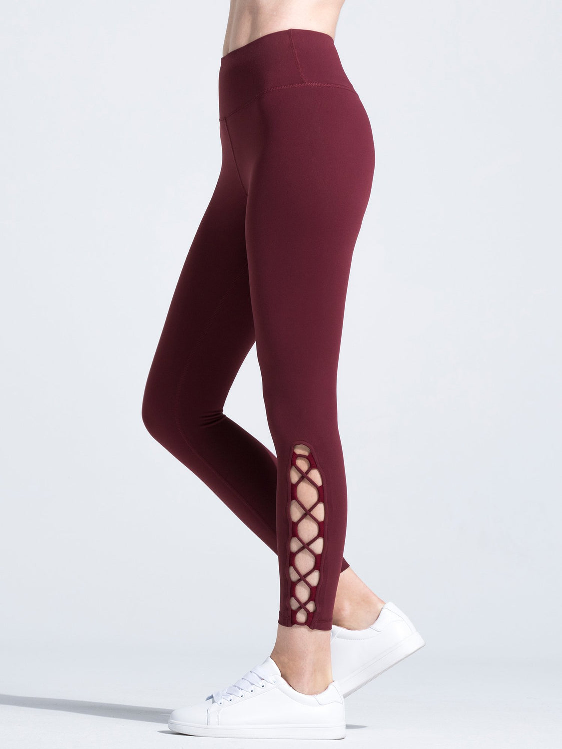MUSE ANKLE CROPS, BORDEAUX