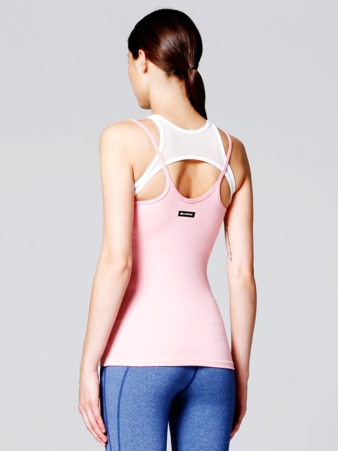 INSPIRATION TANK , ROSE/WHITE MESH