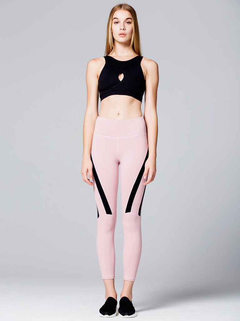 EVOLUTION ANKLE CROPS, BLUSH/BLACK
