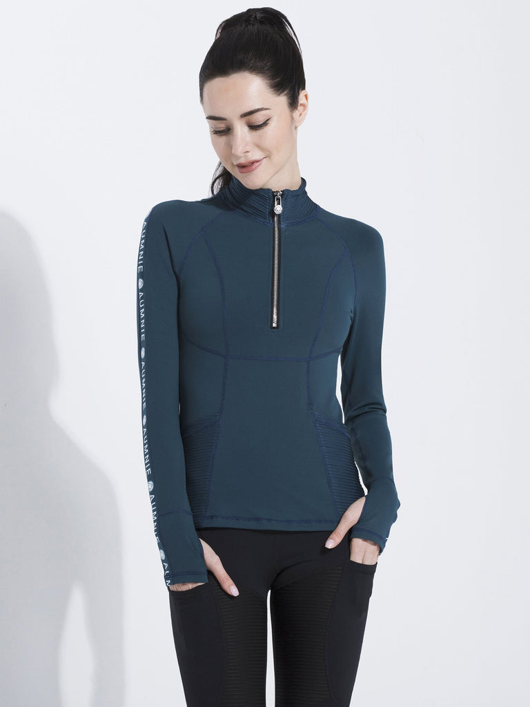 HALF ZIP LOGO TOP, LAKE
