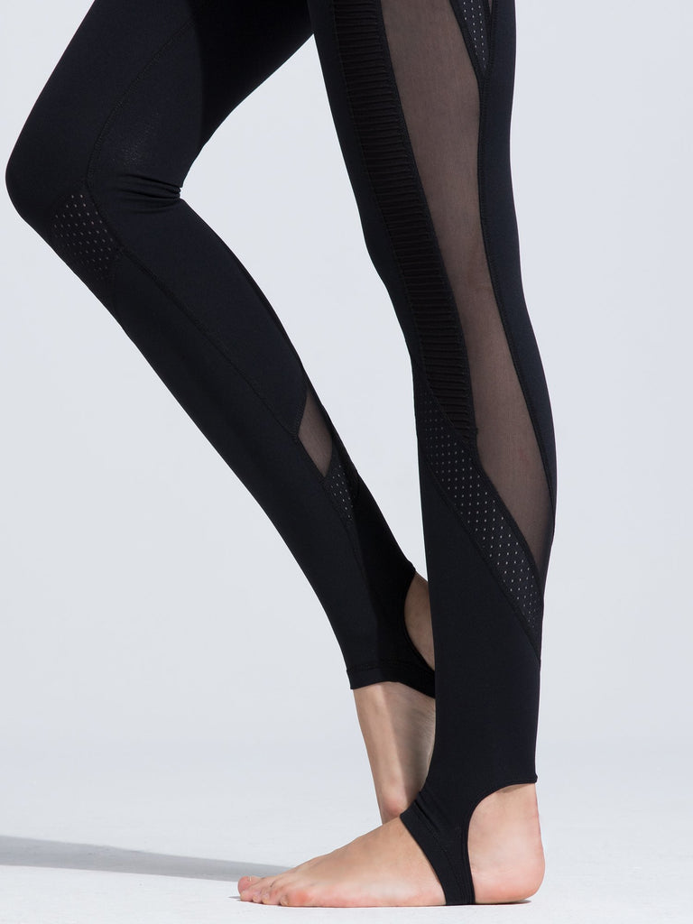 WAVE PANTS, BLACK/BLACK MESH