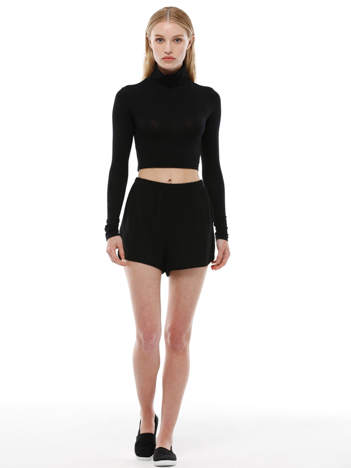 RELAXED FIT SHORTS, BLACK