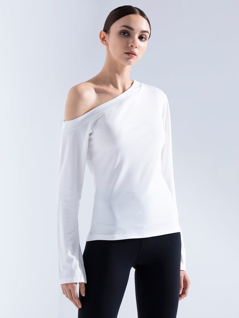 HALTER LONG SPLIT SLEEVE TEE