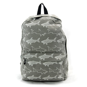 BOLDER - Grey Shark Canvas Backpack