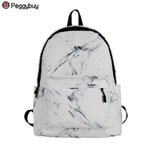 Load image into Gallery viewer, Fashion Unisex Backpack Women Men Canvas Backpack for Teen Girl Bags Casual Marbling Backpack Female Rucksack School Bag Mochila