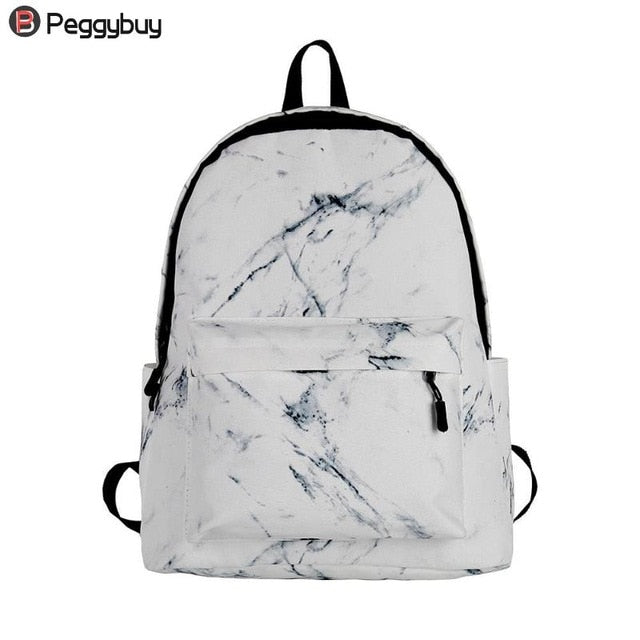Fashion Unisex Backpack Women Men Canvas Backpack for Teen Girl Bags Casual Marbling Backpack Female Rucksack School Bag Mochila