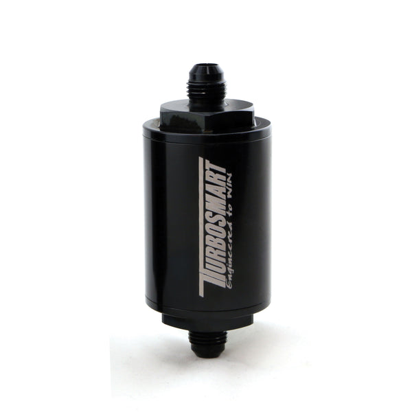 Turbosmart Billet 10µm (micron) -6AN Fuel Filter - Black Finish