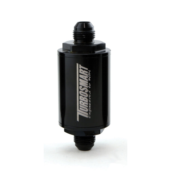 Turbosmart Billet 10µm (micron) -8AN Fuel Filter - Black Finish