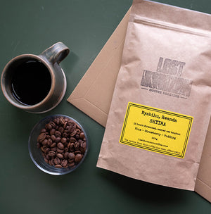 Freshly roasted subscription coffee in letterbox-friendly, biodegradable packaging