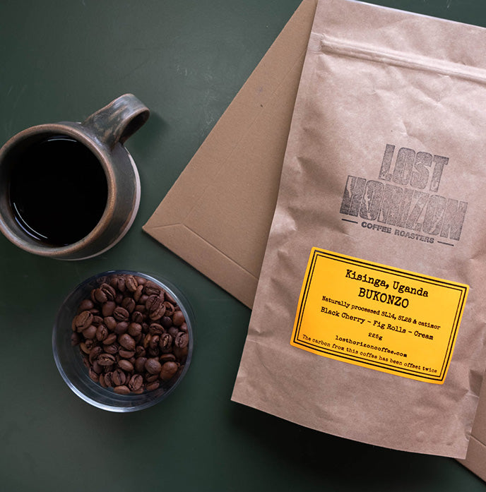 A gift subscription of freshly roasted coffees in letterbox friendly, biodegradable packaging