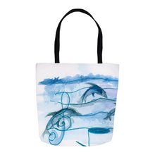 Dolphins & Music Tote Bags