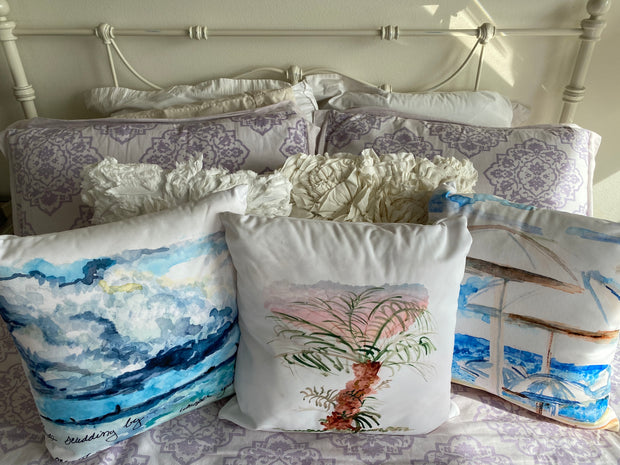 """""""Clouds Scudding By"""" Square Pillow 1"""
