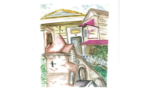Rusty Staub's New Orleans #1 Original Watercolor on Paper