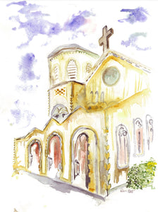 St. Ann's Church, WPB, Giclee on Canvas