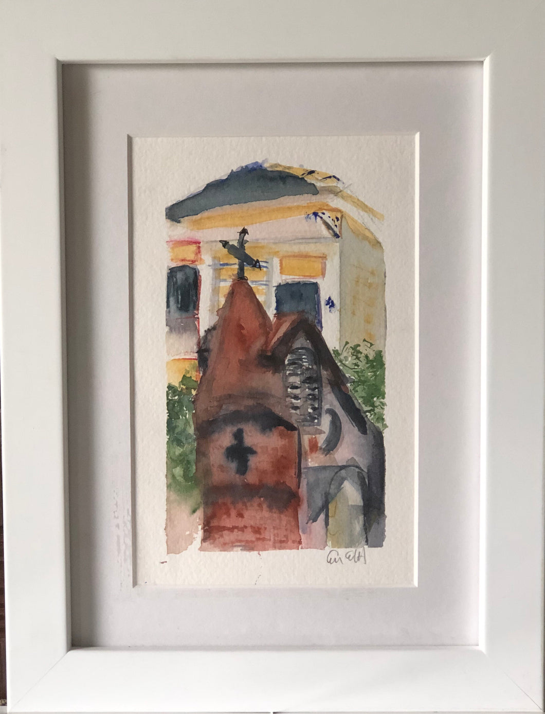Rusty Staub's New Orleans #2 Original Watercolor on Paper