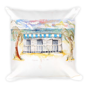 """Cabana By The Sea No.2"" Square Pillow"