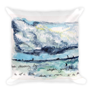 """Clouds Scudding By"" Square Pillow"
