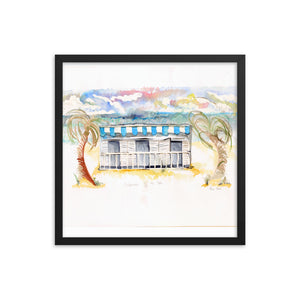 """Cabana By The Sea No.2"" Framed poster"