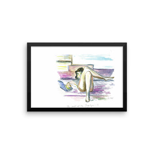 """World At Her Fingertips"" Framed photo paper poster"
