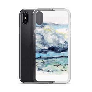 """Clouds Scudding By"" iPhone Case"