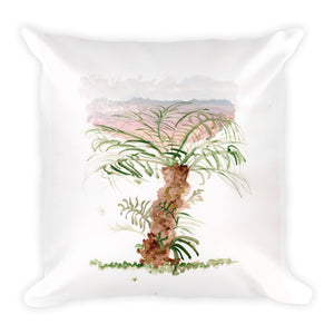"""Solo Bumpy Palm"" Square Pillow"