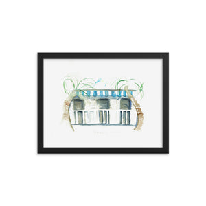 """Cabanas By The Sea No.1"" Framed poster"
