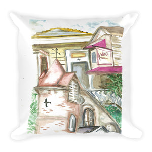 """Rusty New Orleans"" Square Pillow"