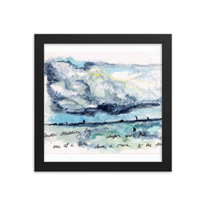 """Clouds Scudding By"" Framed poster"