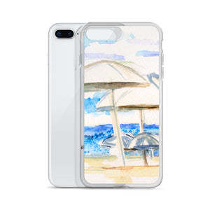 Umbrella By The Sea iPhone Case