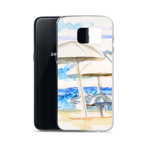 Umbrella on the beach Samsung Case